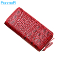 New classics Ladies Purse  alligator synthetil leather zipper wallets more capacity of bank card wallet women mobile phone bag