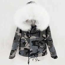 2018 parka winter jacket women parka real fur coat big natural raccoon fur collar hooded real fur parkas warm thick