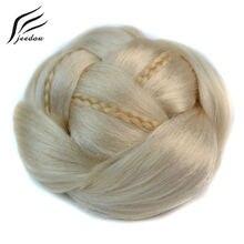 J18 jeedou Изысканный Плетеный шиньон многоярусные косы синтетические