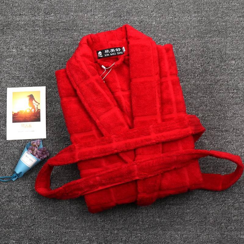 Winter Bathrobe Men Cotton Thick Terry Towel fleece Robe Mens Bathrobes  Pajamas Kimono Dressing Gown Wedding Bridesmaid Robes-in Robes from  Underwear ... 9b461f400
