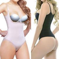 Miss Moly Women Full Body Shaper Waist Cincher Underbust Thong Corset Bodysuit Jumpsuit Shapewear Seamless Pants