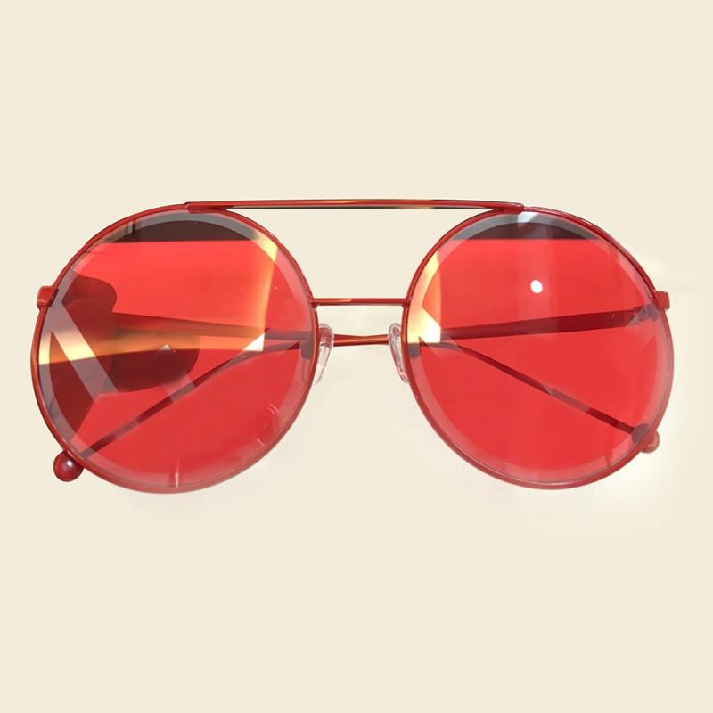 5e30d577a0 Comprar Ronda Retro gafas de sol mujer espejo 2018 diseñador Vintage marca  lente Metal gafas de sol mujeres Oculos con la caja de embalaje Online  Baratos