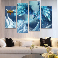 FOUR PC NO FRAME League Of Legends Oil Painting Printed Oil Painting On Canvas Oil Painting