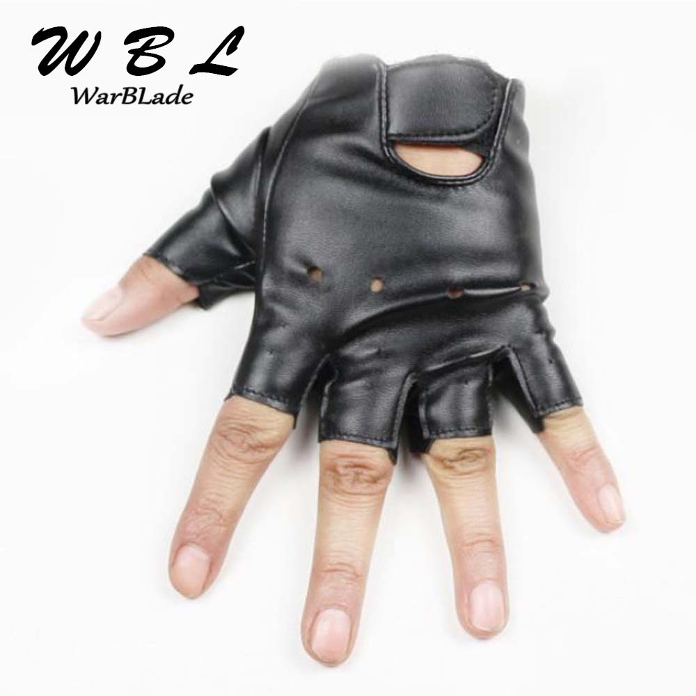 Leather Gloves For Kids Boy Girls Fingerless Gloves Chilidren Half Finger Mittens Breathable Black Gants Enfants High Qualtiy