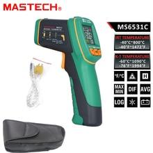 MASTECH MS6531C D:S 12:1 Handheld Digital LCD IR Thermometer Laser Temperature Tester Pyrometer Pyrometer Range -40~800 celsius