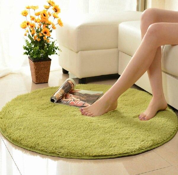2016 Durable rond en forme de tapis souple tapis tapis plancher chambre salon salle de bains cuisine zone décoration de la maison