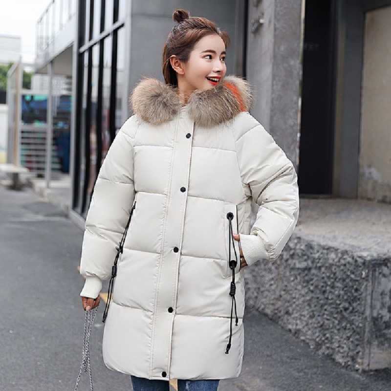 Winter jacket women 2018 fashion new winter coat women in the long section of the wool collar thick down cotton casaco feminino in Parkas from Women 39 s Clothing