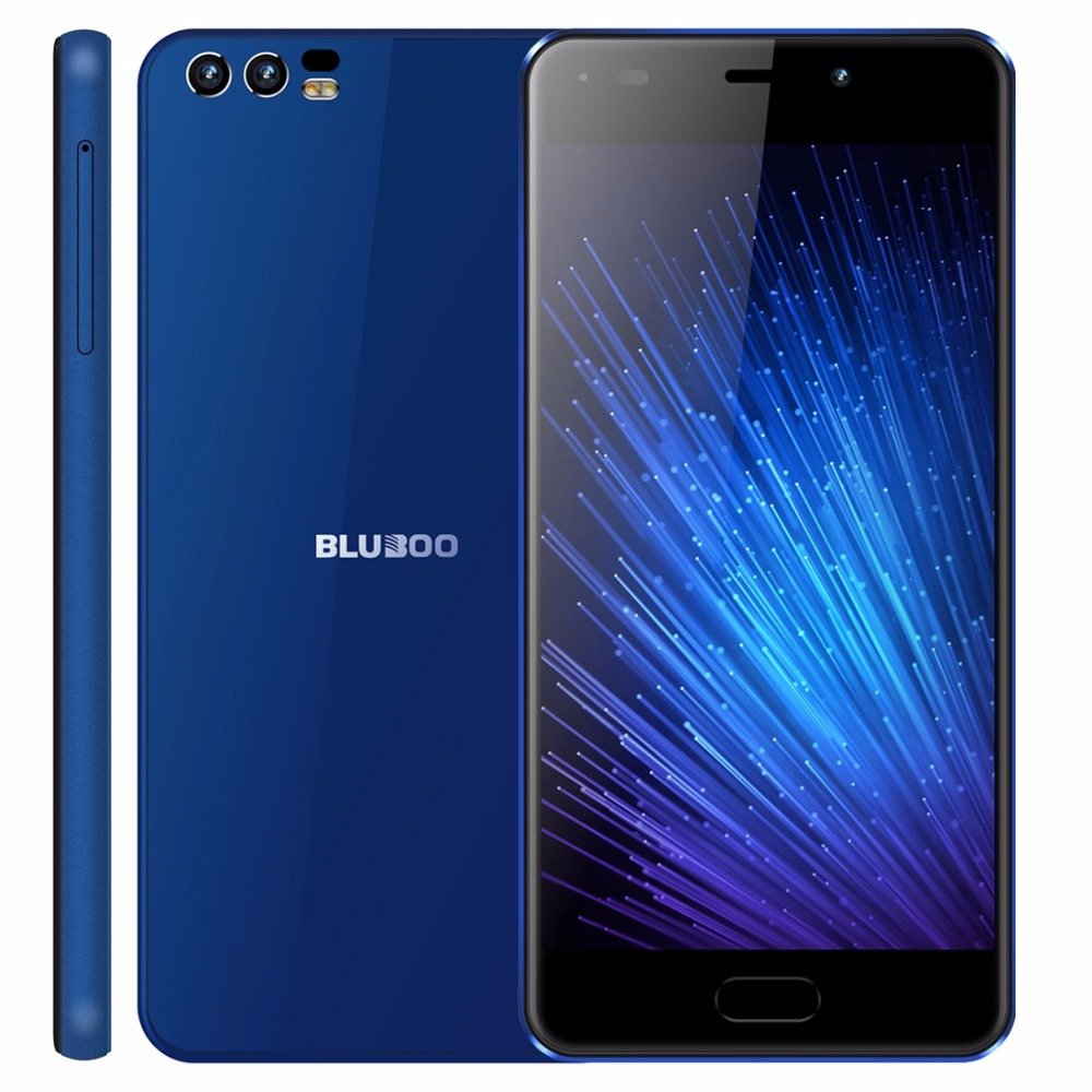 Bluboo D2 5.2 inch HD 3G Smartphone MTKT6580A Quad core Android 6.0 1GB RAM 8GB ROM Dual Rear Cameras 3300mah 3G Mobile Phone