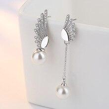 Free Pearl Earrings For Women Cubic Zirconia