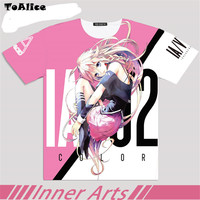 VOCALOID IA T Shirt 2017 Japanese Anime Cosplay Clothing Full Graphic T Shirt For Man Women
