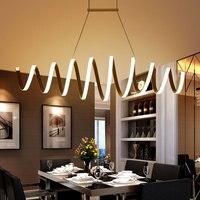 Минимализм современные светодиодные подвесные светильники для Обеденная бар Кухня Алюминий акрил висит подвесной светильник Led светильни