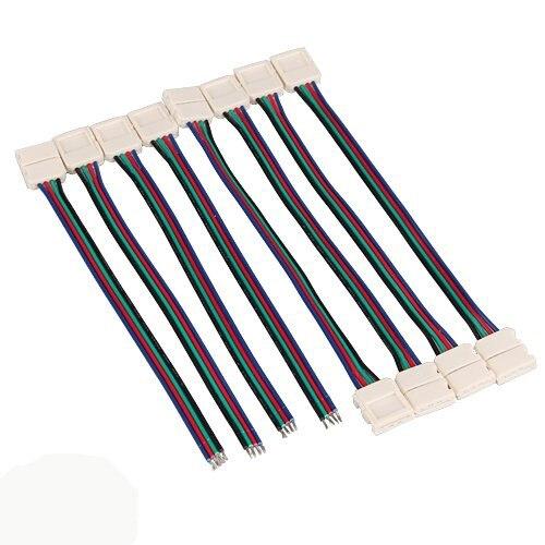 ΞCES 8 x Разъем Кабель-адаптер для RGB <b>LED</b> SMD Газа Stripe ...