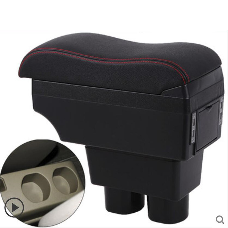 ANPART Center Console Armrest Repair Storage Box Replacement for 2007-2011 for NISSAN Versa Black