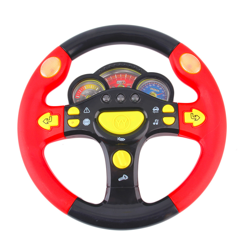 New Sale Childrens Steering Wheel Toy Baby Childhood Educational Driving Simulation Pretend Play Baby Toys for Children