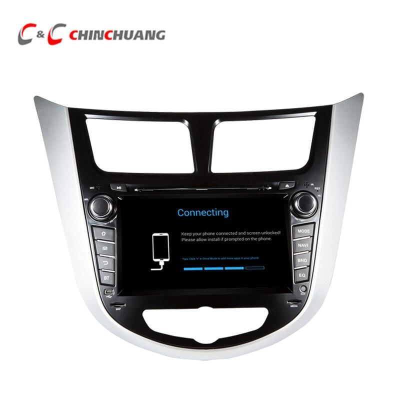 Updated! 2กรัมRAM 32กรัมรอมA Ndroid 7.1 Car DVD P Layerสำหรับฮุนไดสำเนียงi25เวอร์S Olaris GPS + Glonassนำทางที่มีวิทยุDVR