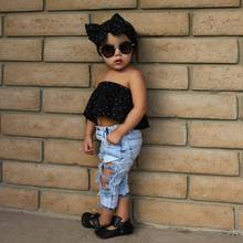 2019 Children Jeans For Girls Big Hole Cotton Jeans Baby Girls Cowboy Trousers Fashion Kids Light Pants For Boys And Girls Jeans цены онлайн