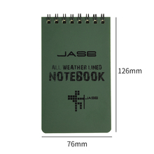 1PCS Creative Loose Leaf Tactical All Weather Notebook Waterproof Writing Paper in Rain Note Book Outdoor Waterproof Notepad