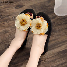 Taomengsi outside wearing 2019 new anti-skid word drag soft bottom outside wearing vacation beach slippers 2019 new trend embroidery word drag men outside wearing damp slippers anti slip wear thick bottom home bathroom slippers