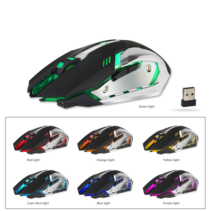ANENG Rechargeable Wireless Mouse 2.4G Built-in Lithium Battery Mouse Gamer 6 Buttons Gaming Mice