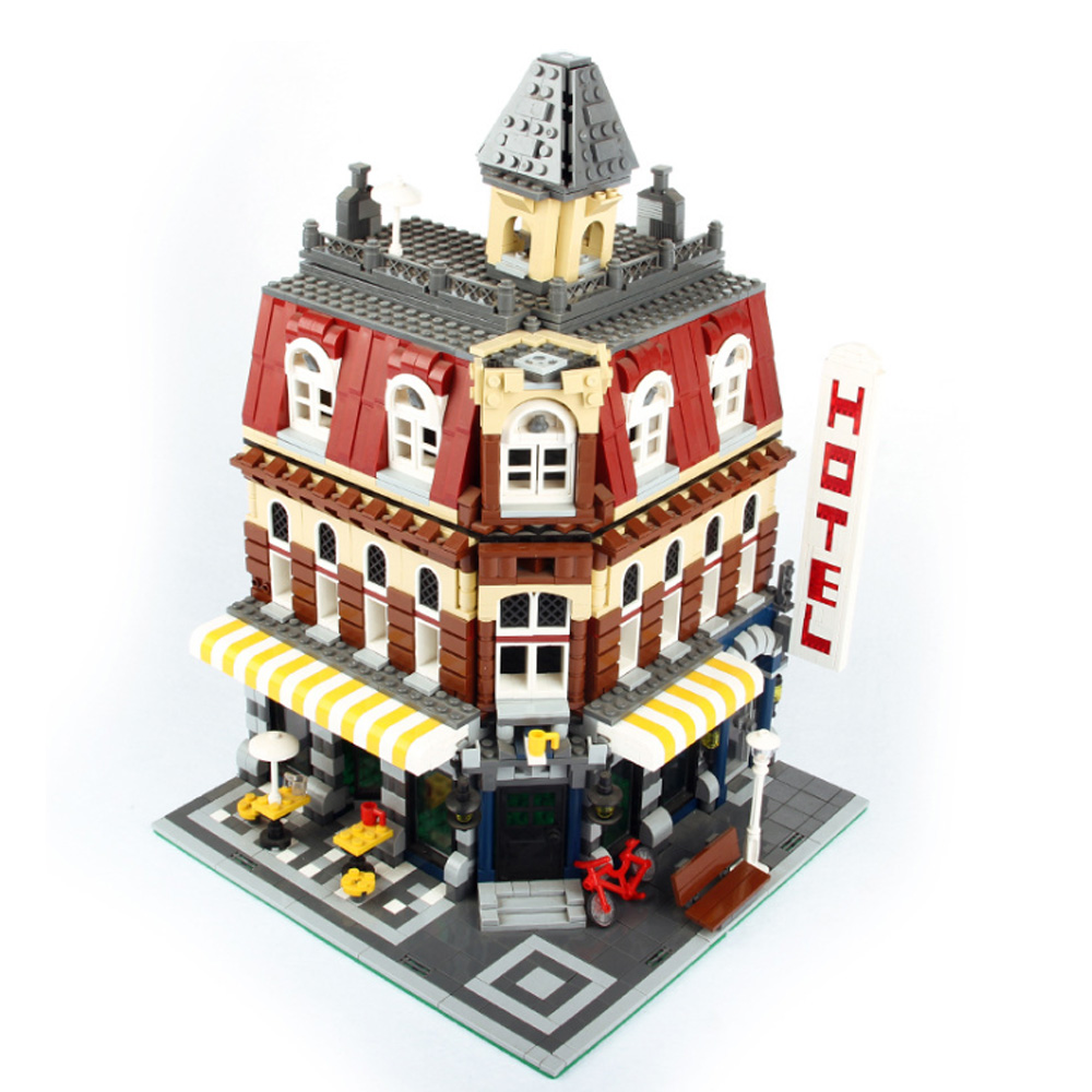 New Lepin 15002 2133Pcs Cafe Corner Model Building Kits Blocks Kid Toy Gift brinquedos Compatible legoings 10182 Brick Toys new lepin 15002 2133pcs cafe corner model building kits blocks kid diy educational toy children day gift brinquedos 10182