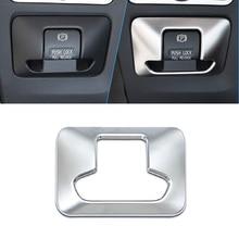 JEAZEA Car Styling ABS Cromato Freno A Mano Elettronico Pulsante Pannello di Rivestimento Della Copertura fit per Volvo XC60 V60 XC70 S60 S80 2010 -2013 2014