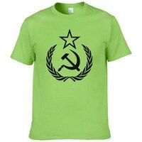 2018 new arrival men/women t shirt CCCP USSR Soviet Russian KGB Hammer Sickle A4