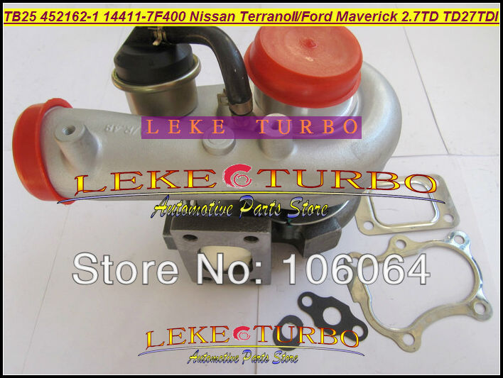 TB25 452162-0001 452162-5001S 452162-0007 14411-7F400 452162 Turbo For NISSAN Terrano II 1993-07 For Ford Maverick TD27TDI 2.7L