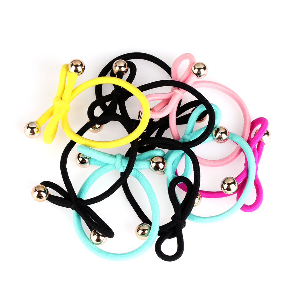 5Pcs/Pack Women Girls Elastic Hair Bands Bowknot Ponytail Holder Tie Gum Multicolor Rubber Hairbands Hair Accessories