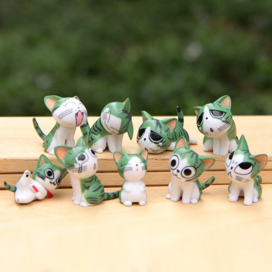 9pcs/set  Chi's Sweet Home Cat Cats Figures Animal Decoration Action Figures Collection Model Toys 3-4cm new lps lovely toys animal cartoon cat dog action figures collection kids toys gifts