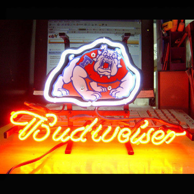 Neon Sign Football BUDWEIS Beer Bar Pub Store Display Neon Light Sign Canadi SHARKS POUND LIONS DODGE Racing Car Neon Tube 13X8 led neon open sign for shop cafe bar pub with 12v ultra bright led neon flexible light tube customized diy led advertising light