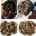 Jeedou Chignon синтетические волосы клип в волосы Updos смесь оттенков серого цвета 100 г натуральные волосы накладной пучок для волос вьющиеся шиньо...