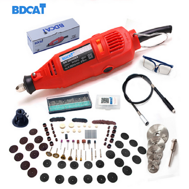 BDCAT 180 Watt Elektrische Dremel Mini Bohrer poliermaschine Variable Geschwindigkeits-drehwerkzeug mit 186 stücke Elektrowerkzeugen zubehör