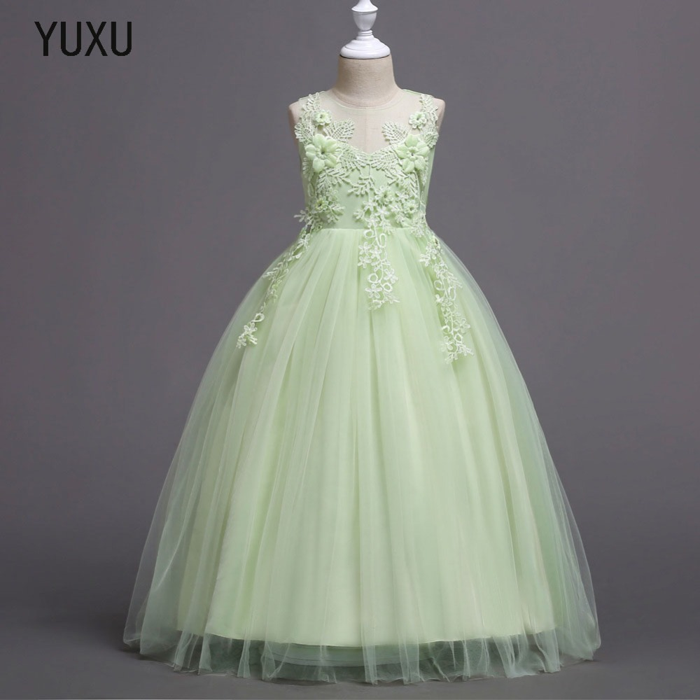 christmas girls dress lace party dress for girls wedding party princess kids dress tulle christmas long red evening gown clothes red green flower girls christmas tutu dress clothes children tulle dress kids christmas costumes for girls party ball gown 1 14y