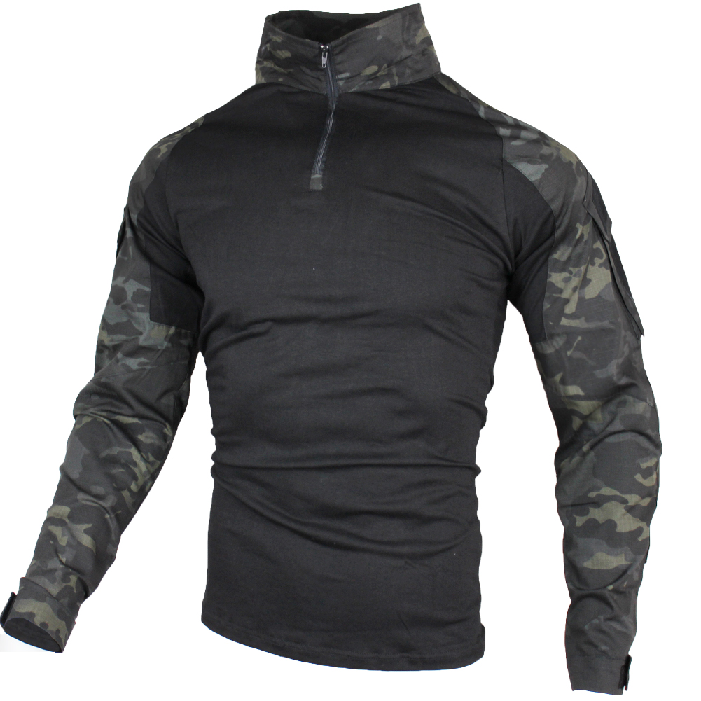 Men Tactical Shirts Military Army Green Rip-stop SWAT Combat Shirts Spring Long Sleeve Airsoft Hunt Shirts Big Size 3XL 4XL 5XL