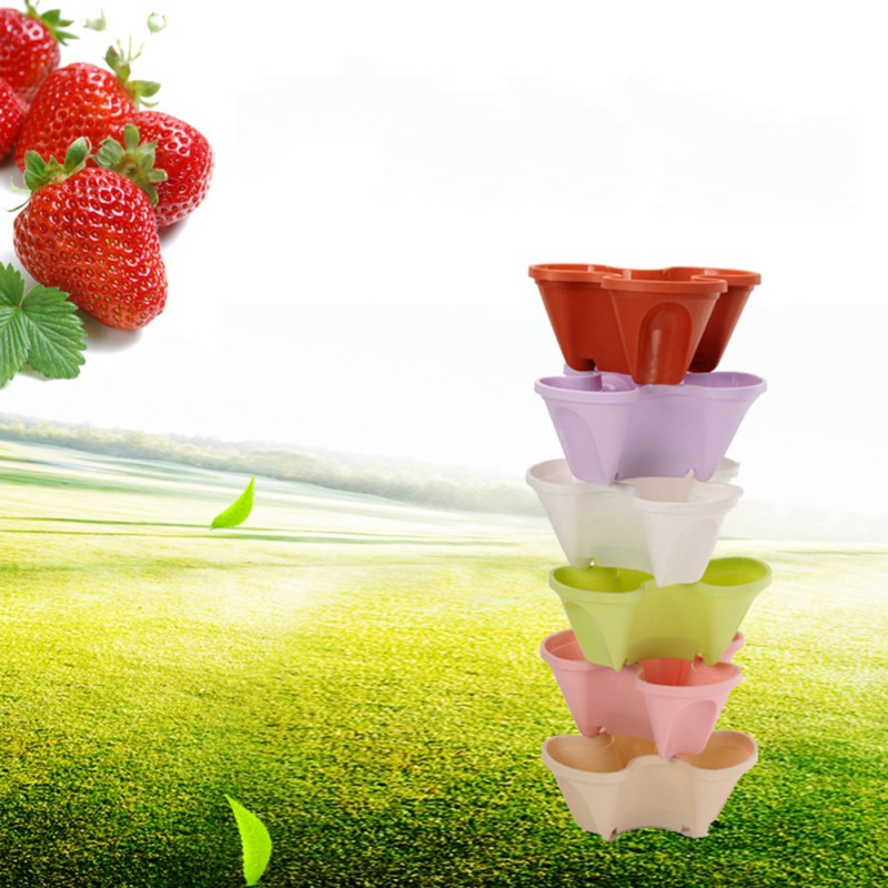 Flower Vegetable Fruit Planting Pot Planting Pottery Three-Dimensional Multi-Layer Superposition Gardening Supplies