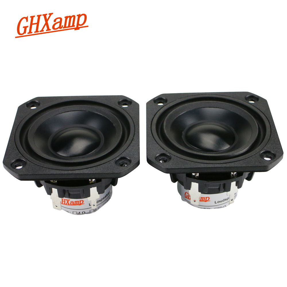 1 Pairs 2.5Inch Neodymium Full Range Protable Speaker 15W Treble Midrange Bass Maze Speaker Bile Class A Amplifier 98HZ-19.8KHZ