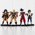 4 pçs/set 13 cm Dragon Ball Z Son Goku Vegeta Raditz Nappa Brinquedo Figura de ação PVC Coleção figuras brinquedos para presente de natal # E