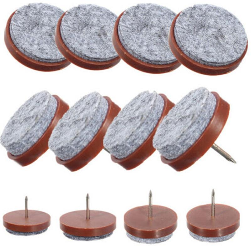 10 Pcs Felt Nail Protectors New Arrival High Quality 24mm Table Chair Feet Legs Glides Skid Tile Pad Floor Protector In Furniture From