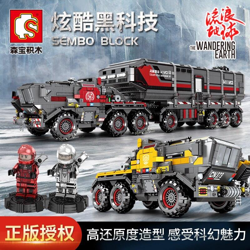 Sembo CargoTruck Série Vagando Terra Caminhão de Transporte Modelo de Blocos de Construção Compatíveis Legoing Technic Brinquedos Educativos