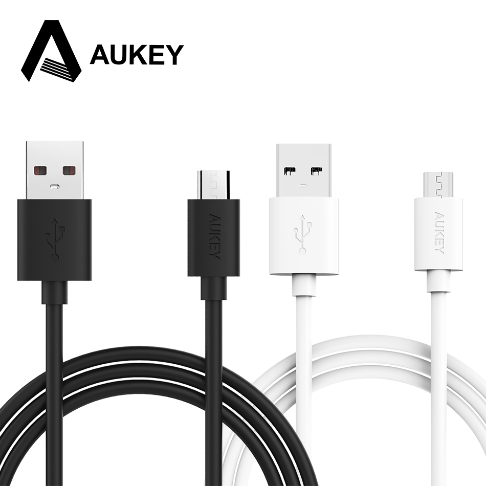AUKEY 2m Micro USB Cable Mobile Phone Micro Cable USB Data Cable Type-A Hi-Speed Charging Fast 2.4A Wire for Xiaomi Samsung Sony