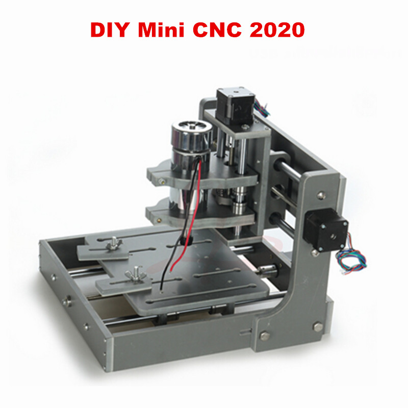 Free shipping mini cnc Milling Machine table DIY CNC frame 2020 with spindle motor free shipping 500w er11 collet 52mm diameter dc motor 0 100v cnc carving milling air cold spindle motor for pcb milling machine