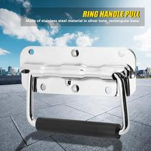 2Pcs Stainless Steel Box Ring Handle Pulls for Toolbox Spring Cover Pull Fitting Hardware