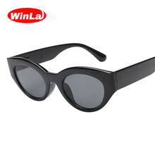 Winla Fashion Design Women Sun Glasses Special Small Oval Frame Shades Lady Vintage Sunglasses Gafas For Female UV400 WL1201
