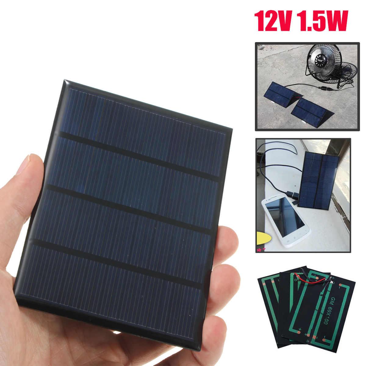 Claite 12 v 1.5 ワットミニ多結晶ソーラーパネルエポキシ太陽電池シリコン diy バッテリーパワーバンク充電器ソーラーモジュールシステム