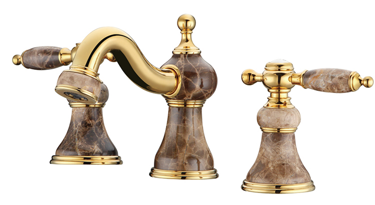 Free ship Bathroom 8 widespread 3 Pieces Lav Sink faucet mixer tap Gold clour Ceramic stone faucetFree ship Bathroom 8 widespread 3 Pieces Lav Sink faucet mixer tap Gold clour Ceramic stone faucet