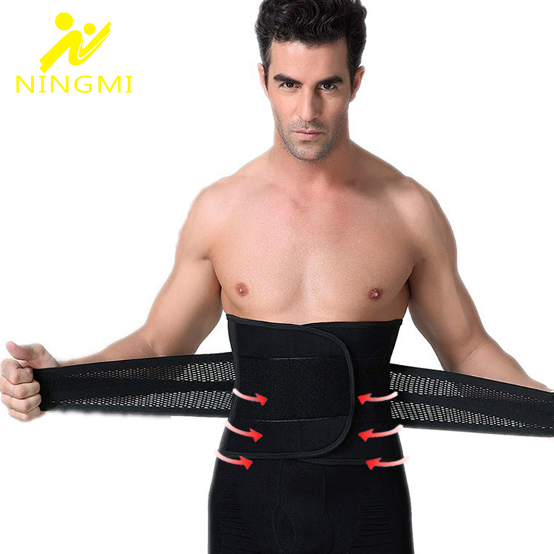 NINGMI Mens Underwear Waist Trainer Body Shaper Perte de poids Belly Modeling Belt Corset Mans Shapewear Slimming Gym Strap Cincher