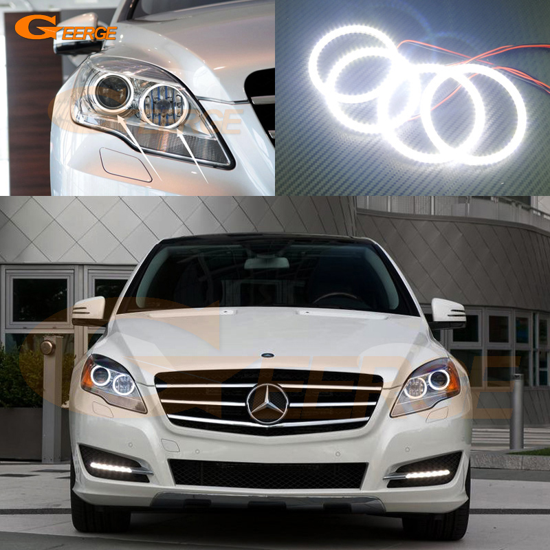 For Mercedes Benz R-class R300 R320 R350 R500 2011 2012 2013 Excellent angel eyes Ultra bright smd led Angel Eyes Halo Ring kit auto fuel filter 163 477 0201 163 477 0701 for mercedes benz