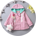 Children is installed in the spring 2016 with  new baby sweet little girls coat dust coat princess cardigan coat 0-2 years old