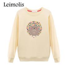 Здесь можно купить  Leimolis 2017 3D print harajuku candy color cartoon Hedgehog hoodies women Sweet kawaii pullovers jumper O-Neck sweatshirt