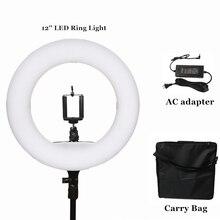 """Yidoblo 12 """"FS-390II Varm och kall Ljus bärbar Mini storlek Ringlampa LED Mjukt ljus Lampa Makeup Lighting 38W 192 LED-lampor + väska"""